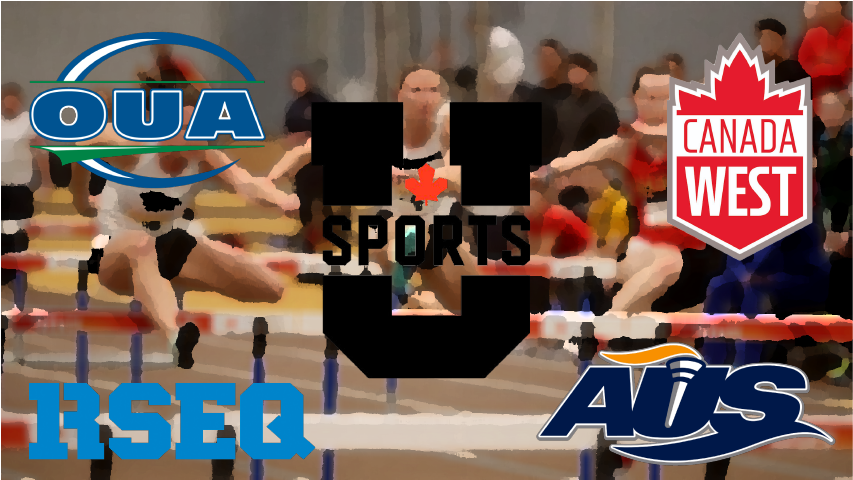 Usports, Canada West, OUA, RSEQ, AUS, Track and Field