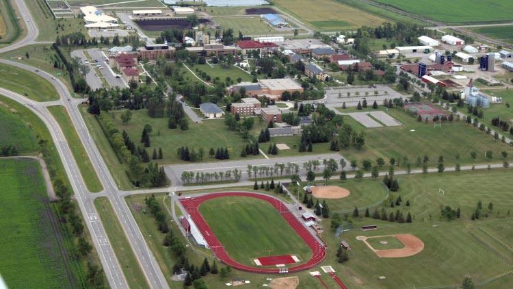 University of Minnesota, Crookston campus overhead view