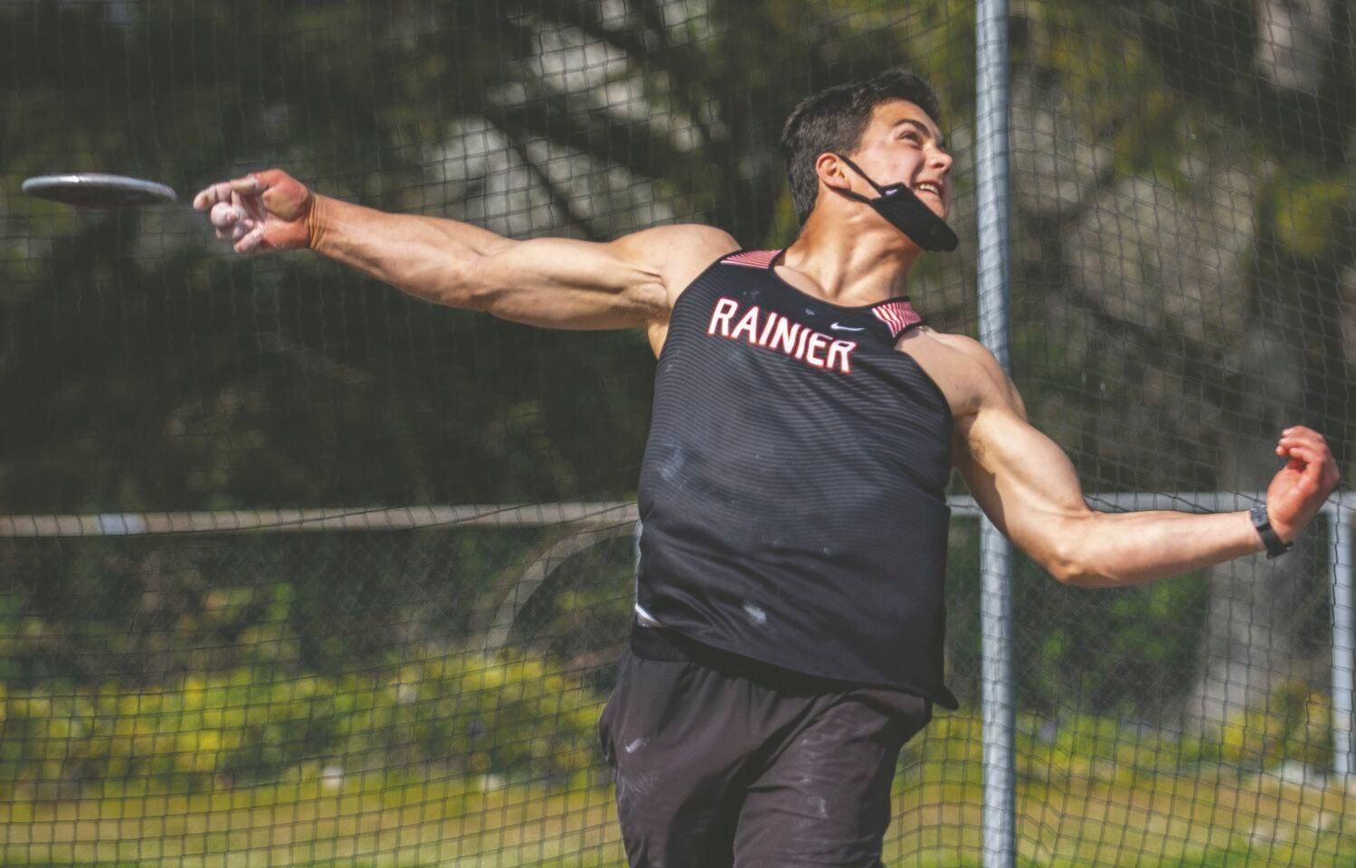 Jeremiah Nubbe at throwing the discus at a recent meet